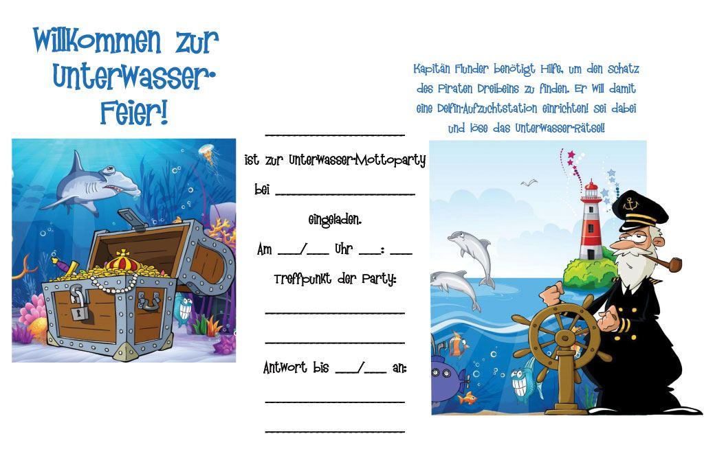 einladungskarten kindergeburtstag zum ausdrucken