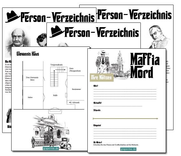 krimidinner spiel mit maffia story