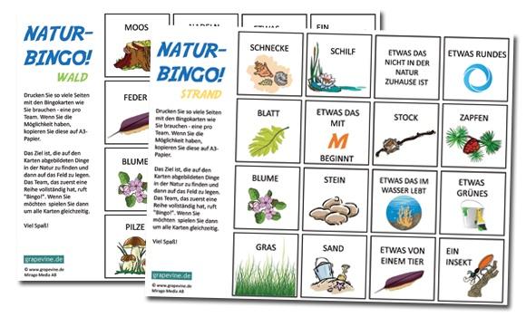natur-bingo draußen spielen